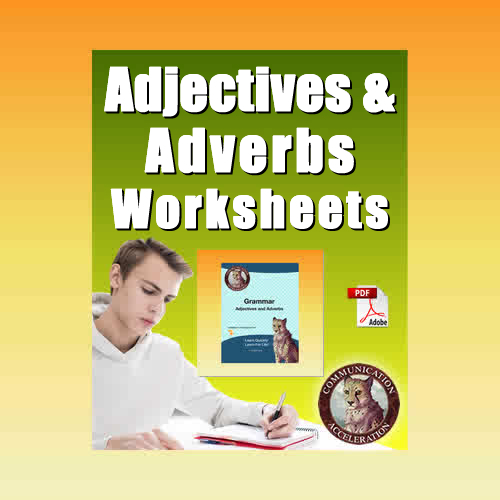 Adjectives Worksheets in PDF