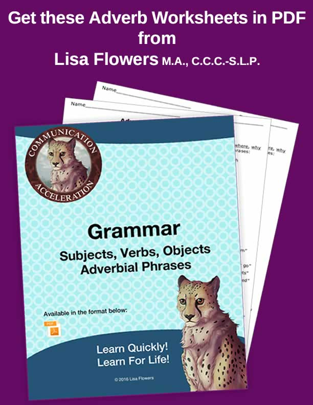 Adjectives and Adverbs Worksheets in PDF