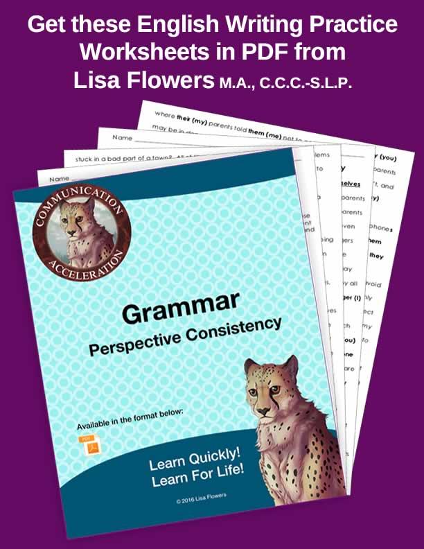 Perspective Consistency Grammar Worksheets