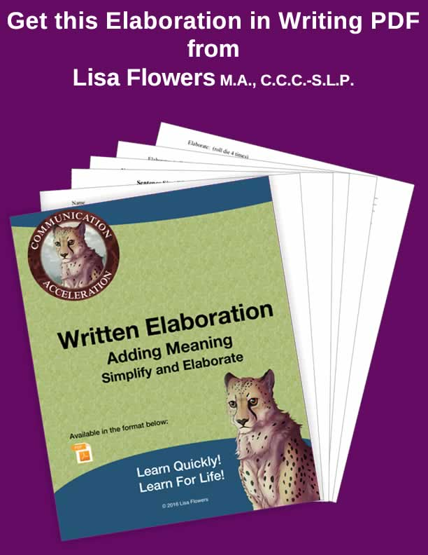 Simplification and Elaboration Worksheets
