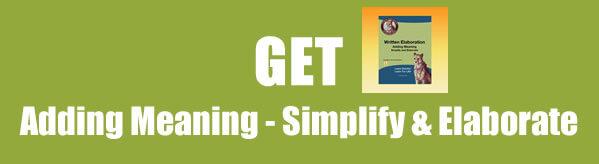 Get Simplification and Elaboration Worksheets
