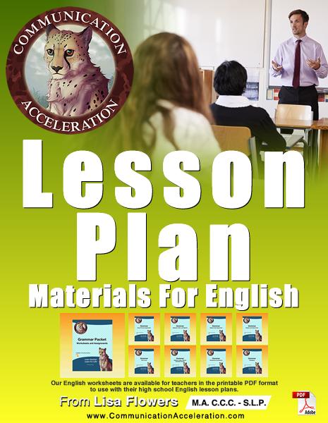 English Lesson Plan Materials PDF