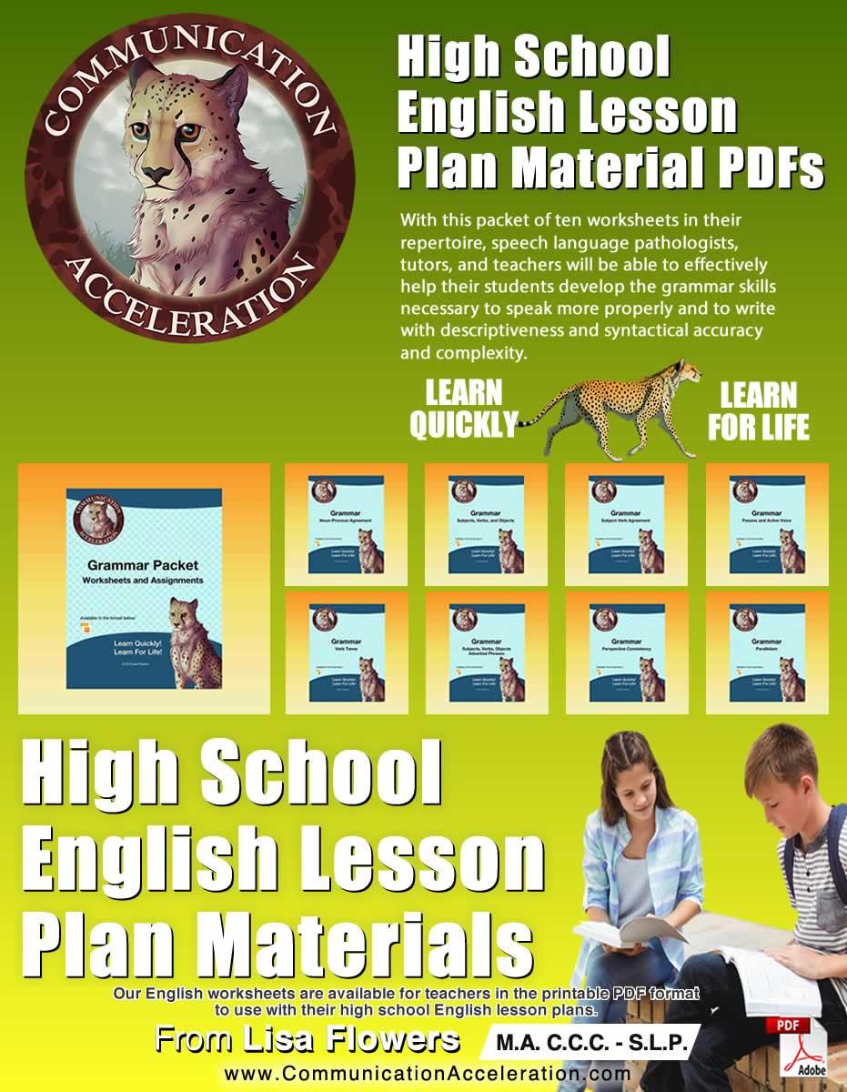 High School English Language Plans PDF