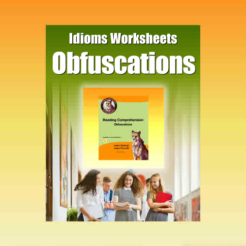 Idiom Worksheets – Obfuscations - in PDF