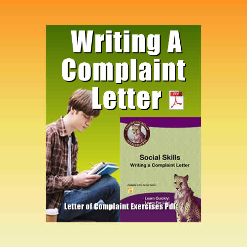 Writing a Letter of Complaint Exercise in PDF