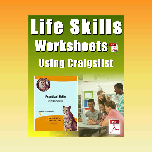 Life Skills for Adults Worksheets: Using Craigslist.org – Printable in PDF