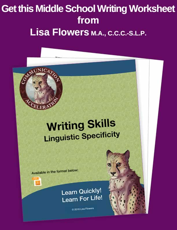 Writing Skills: Linguistic Specificity