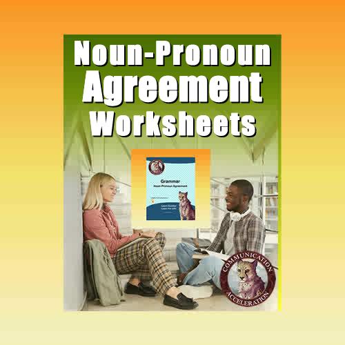 Noun-Pronoun Agreement Worksheet in PDF