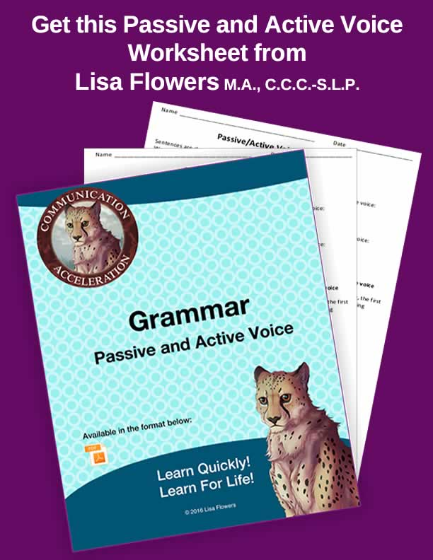 Passive and Active Voice Worksheet in PDF