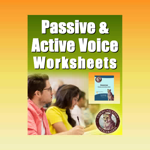 The Passive and Active Voice Worksheet in PDF