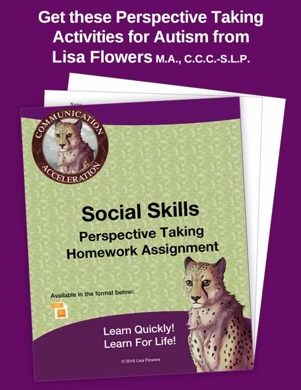 Social skills perspective taking worksheets and activities in PDF