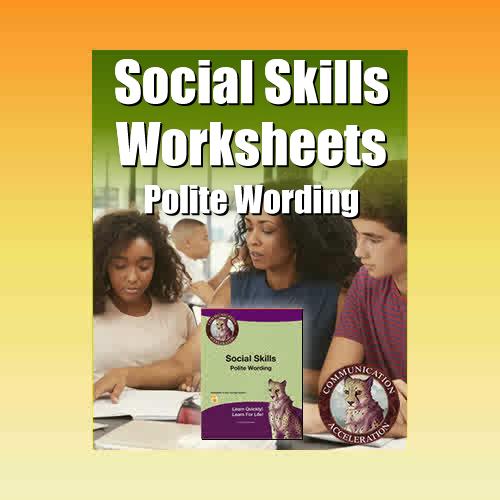 Perspective Taking Worksheets in PDF: Polite Wording