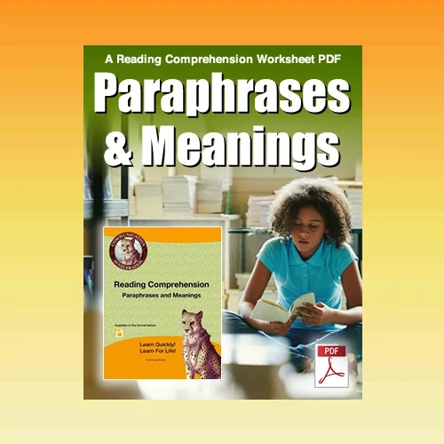 Reading Comprehension Activities for Middle School in PDF