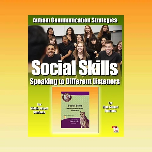 Autism Communication Strategies Activities and Worksheets in PDF