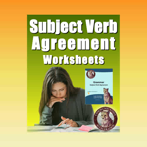 Subject Verb Agreement Worksheets in PDF