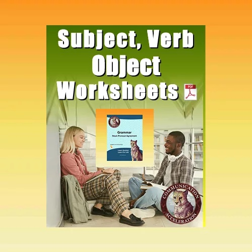 Subject, Verb, Object Worksheets