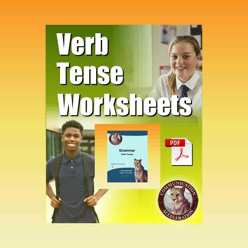 Verb Tense Worksheets in PDF