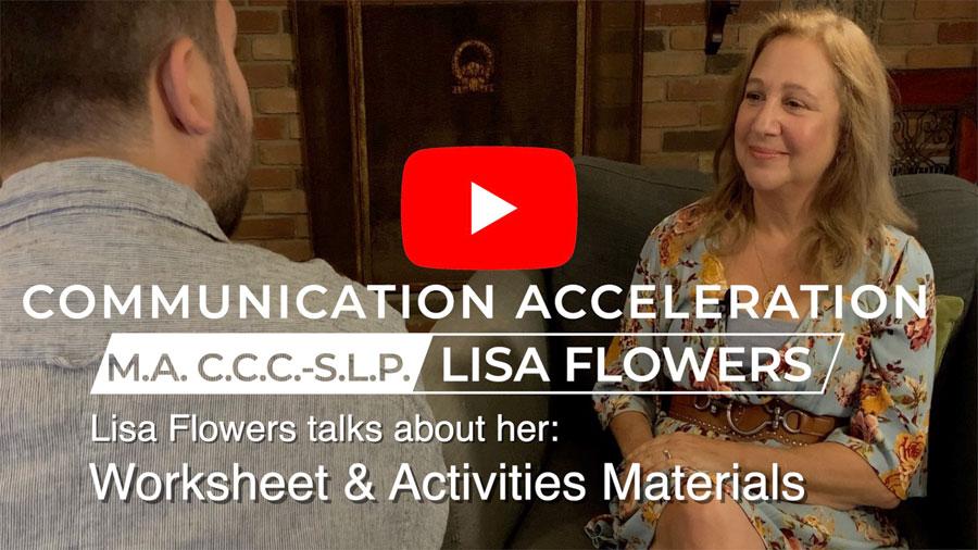 Lisa Flowers talks about her Worksheet