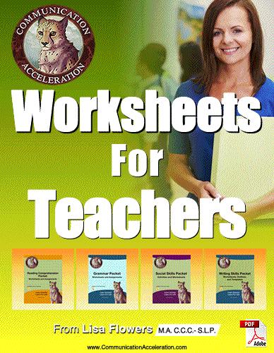 Worksheet for Teachers