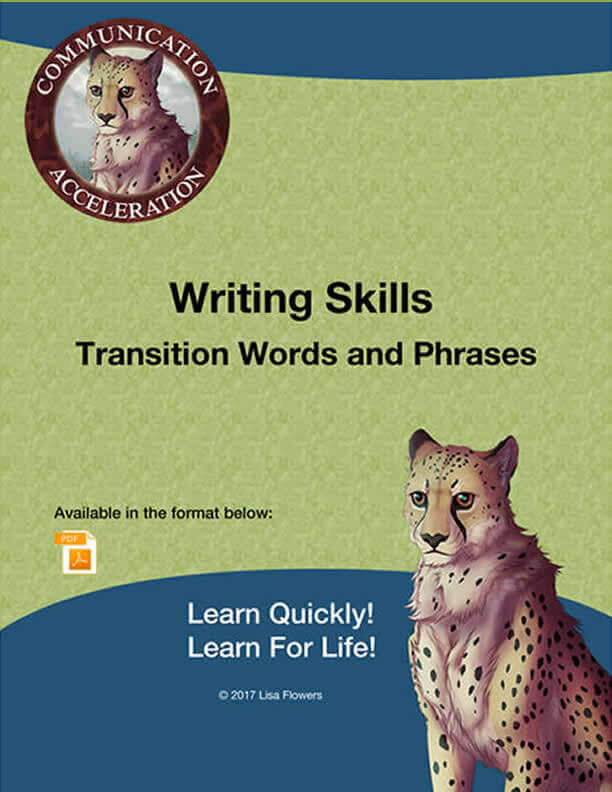 Transition Words and Phrases Worksheet For High School